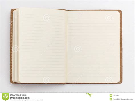 Open Notebook Stock Photo  Image 7557390