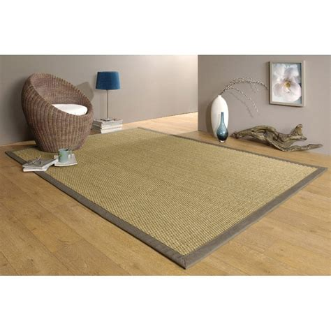 tapis taupe jonc de mer 4x4 l 140 x l 195 cm leroy merlin