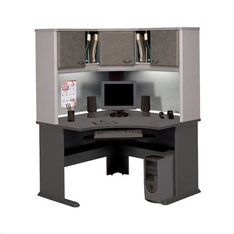 bbf series a hansen cherry corner desk with hutch
