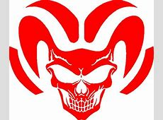 1 COLOR CAR WINDOW DECALS Vehicle Ram Tough Skull Decal