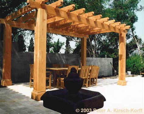 mission style wood dining pergola los angeles ca