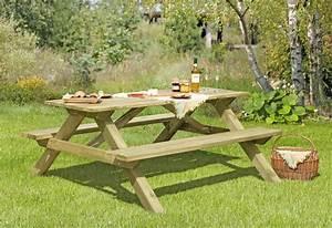 Holz Gartenbank Massiv : picknicktisch sitzgarnitur holz massiv 180x140x75cm bei ~ Markanthonyermac.com Haus und Dekorationen