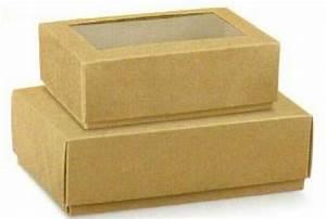 Geschenkschachtel Mit Deckel : 4 faltschachteln mit deckel sichtfenster kraft 130 90 4 5cm giveaway achwieschoen ~ Markanthonyermac.com Haus und Dekorationen