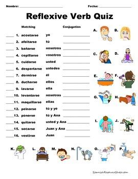 Spanish Reflexive Verbs Value Pack Bundle By Spanish Resource Shop