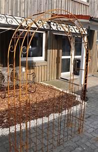 Tor Für Rosenbogen : rosenbogen b 140cm rost mit t ren tor rund ~ Whattoseeinmadrid.com Haus und Dekorationen