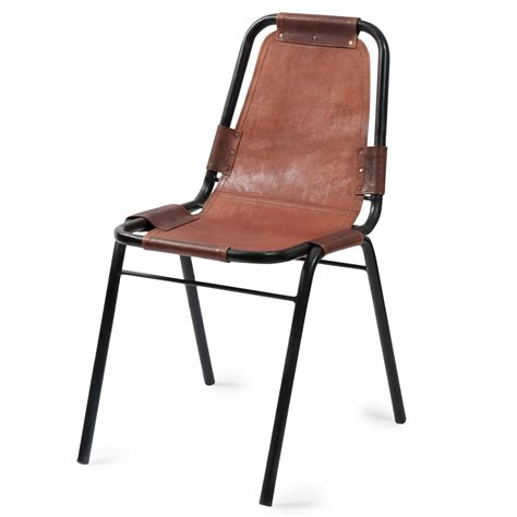 industrial leather chair wagram maisons du monde