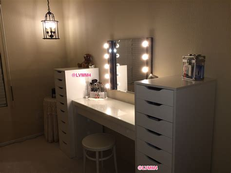 my vanity is finished ikea malm dressing table 149 2 alex 9 drawer units 119 each