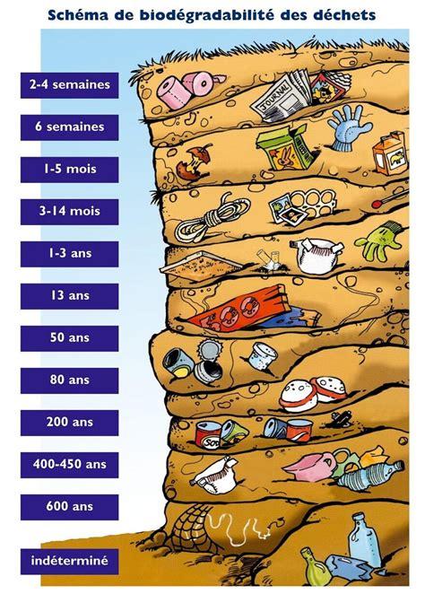 infographie la dur 233 e de vie des d 233 chets dans la nature