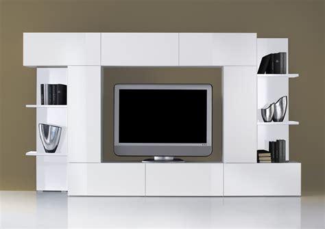 meuble tv de style contemporain laqu 233 blanc magasin de meubles plan de cagne cuir design