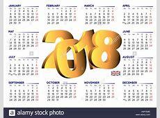 2018 calendar in english Year 2018 calendar Calendar
