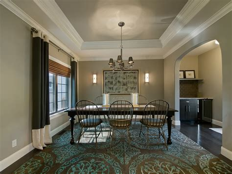 great tray ceiling vs coffered ceiling decorating ideas images in dining room traditional design