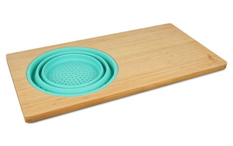 island bamboo the sink cutting board with collapsible