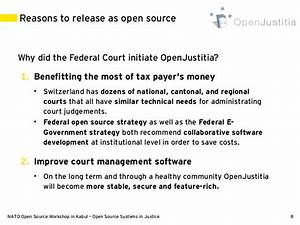 Open Source Systems in Justice