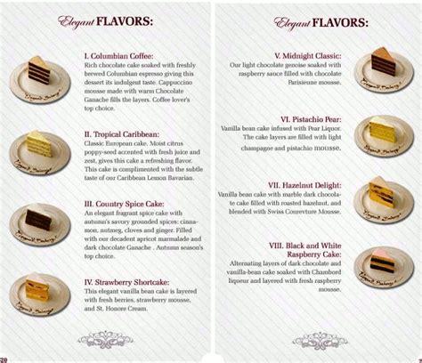 cake flavors list best wedding cake flavors tasty wedding cakes