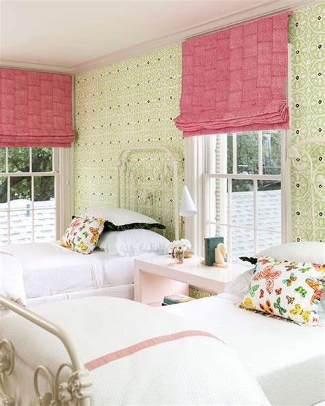 Pink Roman Shades  Transitional  Girl's Room Carrie