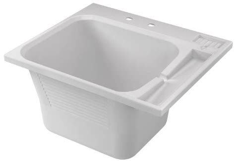 crane plumbing 100019 dl1 drop in laundry tub white new