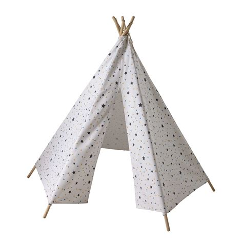 tipi enfant motifs triangles et 233 toiles h 145 cm graphikids maisons du monde