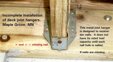 Deck Joist Hangers Or Not by Poor Choices Illustrations Of Conditions Found On Home