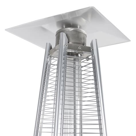 stainless steel patio heater outdoor pyramid propane glass