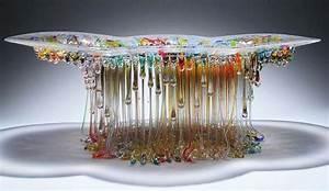 Jellyfish, les centres de table en verre de Daniela Forti ...
