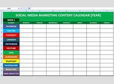 Marketing Calendar Excel calendar template excel