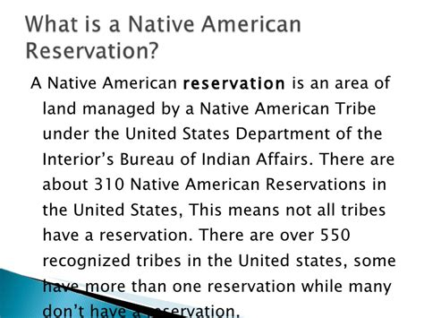 the history of american reservations pp
