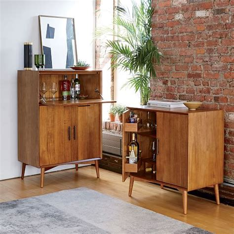 Midcentury Bar Cabinet  Small  West Elm