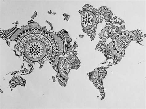 Mandala Zum Ausdrucken Landkarte Welt Mandala Pinterest