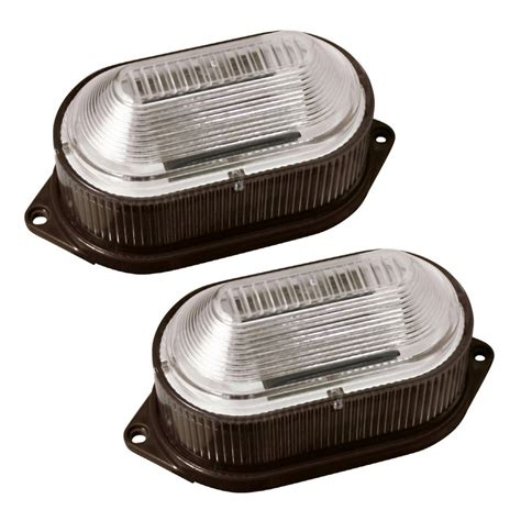portfolio brown solar powered led deck and stair lights 2 pack lowe s canada