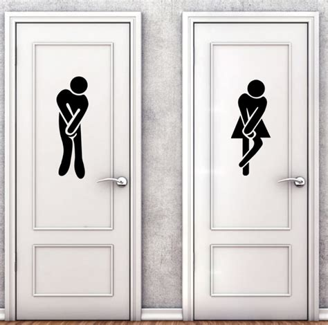 and bathroom toilet wc wall stickers decorative painting affixed to the bathroom home