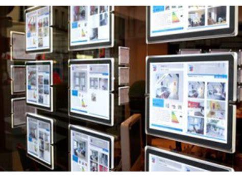 enseigne lumineuse led agence immobili 232 re panneau pub immobilier porte affiche leds toulon