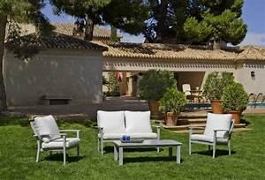 Salon De Jardin Blanc. salon de jardin en aluminium blanc. salon de ...