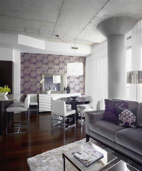 grey and purple living room walls purple and chocolate brown living room eclectic with