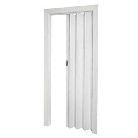accordion doors home depot spectrum 32 in x 80 in fusion white accordion door