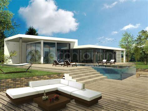 plan de maison moderne plain pied archionline