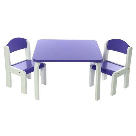 ensemble table et chaises enfant violet en bois fabio momo for achat vente table et