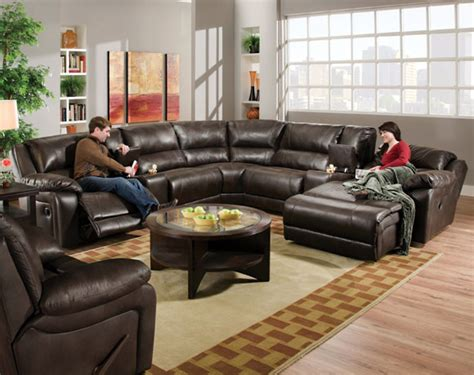 blackjack cocoa reclining sectional transitional sofas columbus by american freight
