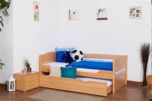 Kinderbett 200 X 90 : kinderbett jugendbett easy sleep k1 s voll inkl 2 liegeplatz und 2 abdeckblenden 90 x 200 ~ Markanthonyermac.com Haus und Dekorationen