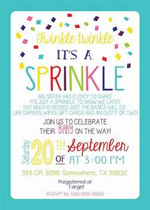 BABY SPRINKLE iNVITATION GIRL Version Any Color Couples ...