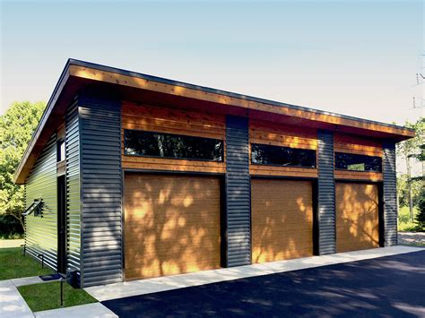 Modern Garage Plan With Bays-dj