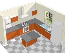 implantation cuisine avec ilot cuisson ilot repas ilot avec 233 vier ilot de cuisine