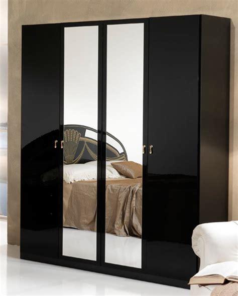 Armoire 4 Portes Athena Chambre A Coucher Noir