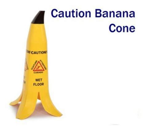 banana shaped floor cone sign 600mm safety signs security safety products