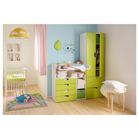 stuva changing table with 4 drawers white green 90x79x102 cm ikea