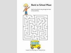 Back to School Maze Easy