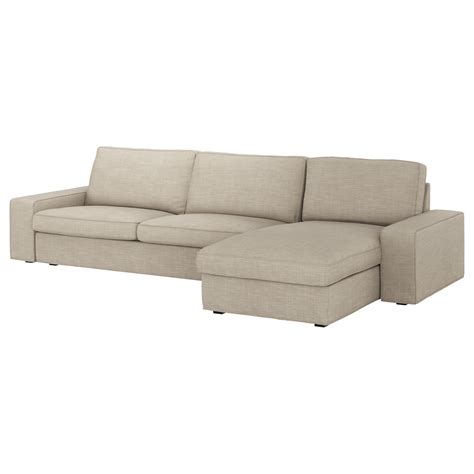 kivik 4 seat sofa with chaise longue hillared beige ikea