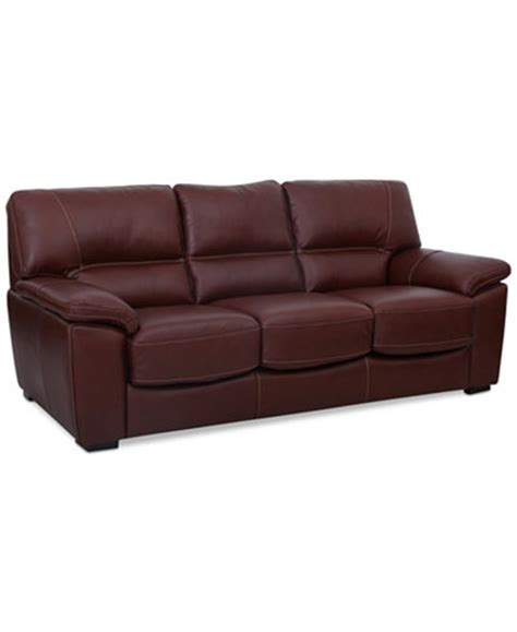 bolivar leather sleeper sofa only at macy s
