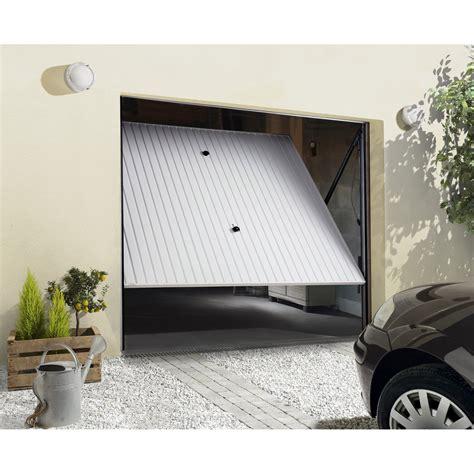 porte de garage basculante non d 233 bordante primo acier blanc 200 x 240cm leroy merlin