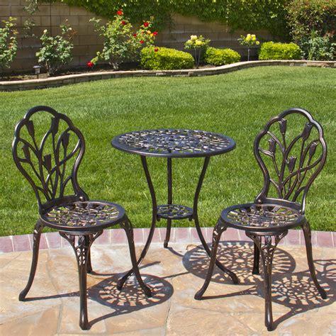 patio cast aluminum patio set home interior design