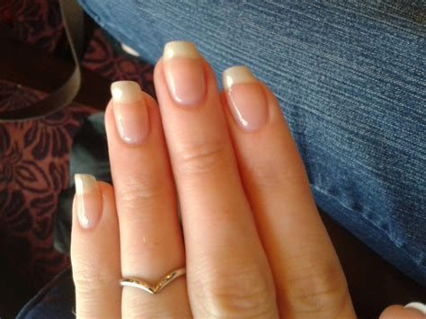 Clear Gel Manicure With Pink Glitter Nice